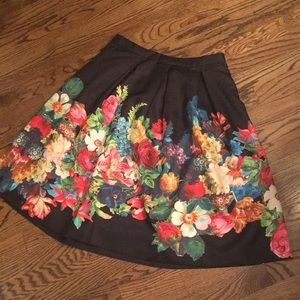 Anthropologie HD Flower Skirt NWT